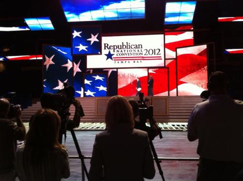 Convention Stage Unveiled - RNC Cash on Hand